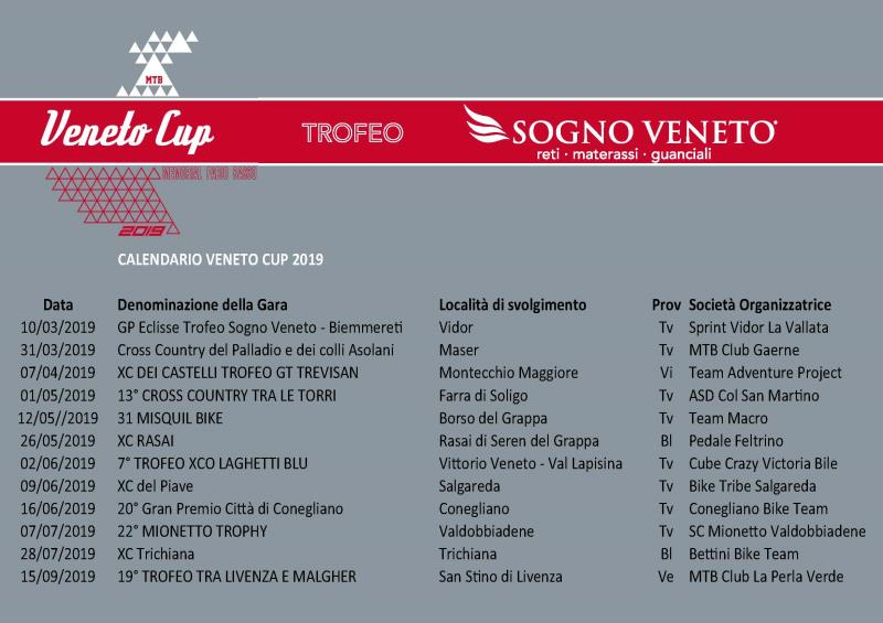 Calendario Manifestazioni Veneto.Veneto Cup 2019 Trevisomtb